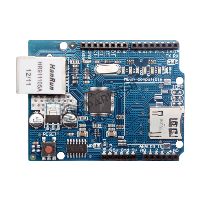 Ethernet Shield W5100 For Arduino Uno Mega With Micro Sd