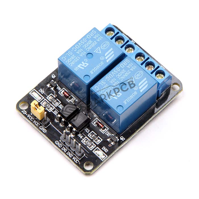 2 channel 5v relay board with optocoupler for arduino raspberry pi rh sparkpcb com 2 channel relay board pdf arduino 2 channel relay board