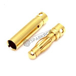 3.5 mm Gold Plated Bullet Connector Male Female Set