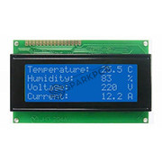 20x4 Line Blue Character LCD
