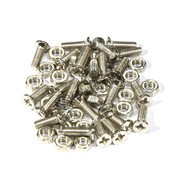 3x10mm Phillips Flat Head Machine Screws with Nut 25Pcs
