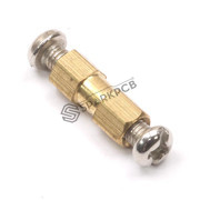 3x12 mm Female to Female Brass Hex Pillar