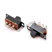 6 Pin 15mm DPDT Black Slide Switch