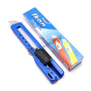 Ikon 18mm Blade Plastic Sliding Snap Off Cutter Knife