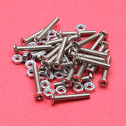 3x20mm Phillips Flat Head Machine Screws with Nut 25Pcs