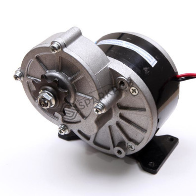 24V 250W MY1016Z2 PMDC Gear Motor for Electric Bike, Tricycle, Robot, Go Kart