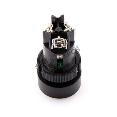 Vells 22mm NO NC Green Momentary Push Button Switch