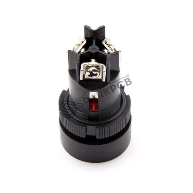 Vells 22mm NO NC Red Momentary Push Button Switch