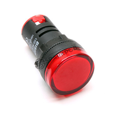 22mm 220V AC Red Colour Panel LED Light Indicator